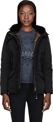 Parajumpers Black Down Hooded Arches Jacket
