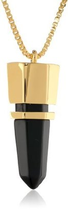 """Vince Camuto Bullet Proof Gold Frontal Necklace, 20"""""""