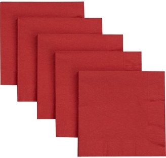 Crate & Barrel Set of 50 Red Paper Cocktail Napkins