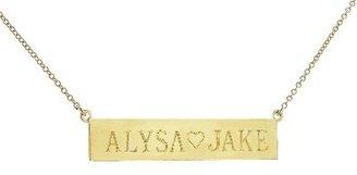 Jennifer Meyer Personalized Nameplate - Yellow Gold | 2 Sided - 17''