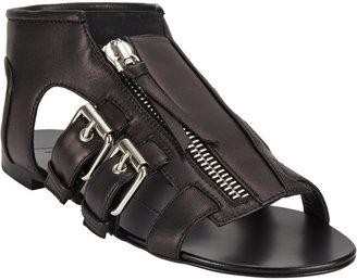Giuseppe Zanotti Roller-Buckle Flat Sandals