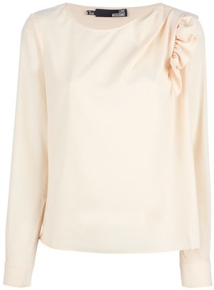 Love Moschino ruched shoulder blouse