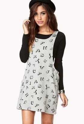 Forever 21 alphabet overall dress