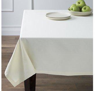 """Crate & Barrel Fete Vanilla 60""""x120"""" Tablecloth"""