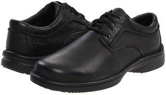Clarks Childers Prep (Black Leather) - Footwear