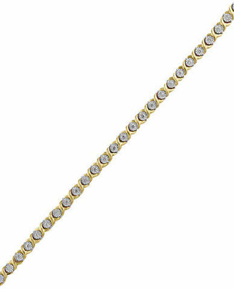 Effy 14K Yellow Gold 0.71TCW Diamond Tennis Bracelet