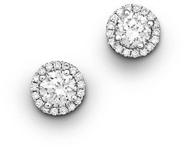 Bloomingdale's Halo Diamond Stud Earrings in 14K White Gold, 0.50 ct. t.w. - 100% Exclusive