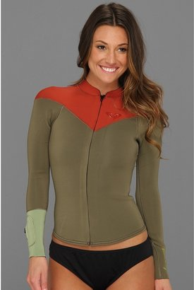 Roxy K. Meador 2MM Front Zip L/S Jacket (Red) - Apparel