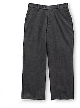 Class Club Gold Label Big Boys 8-20 Charcoal Flat-Front Dress Pants