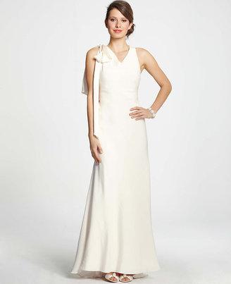 Ann Taylor Vanessa Shoulder Bow Wedding Dress