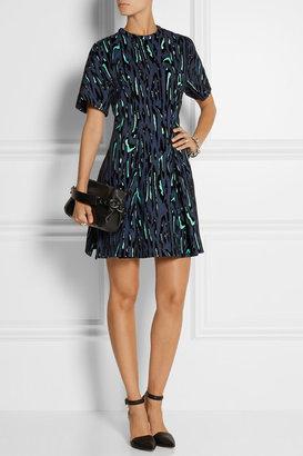 Proenza Schouler Flocked moiré-jacquard mini dress