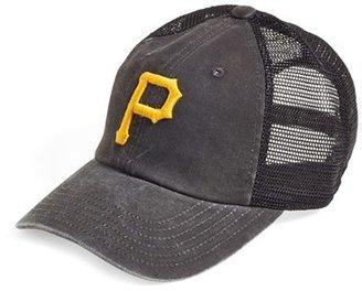 American Needle 'Pittsburgh Pirates - Raglan Bones' Mesh Trucker Cap