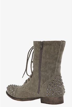 Torrid Olive Studded Canvas Boots (Wide Width)