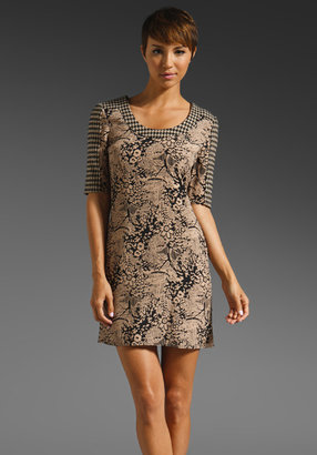 Plenty by Tracy Reese Houndstooth Combo Shift Dress
