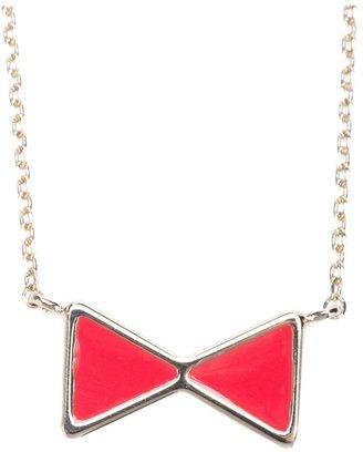 Chloé bow pendant necklace