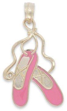 Macy's Pink Enamel Ballet Slipper Charm in 14k Gold