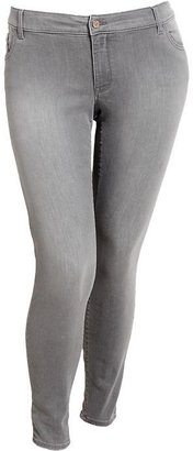 Old Navy Women's Plus The Rockstar Gray-Wash Super Skinny Jeans