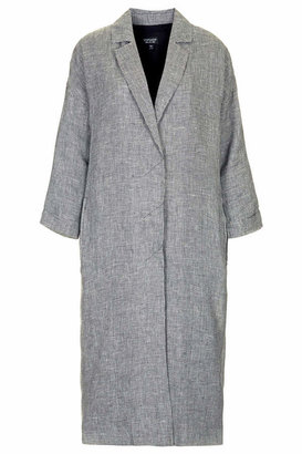 Topshop Long line throw on dogtooth duster