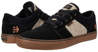 Etnies Barge LS (Black/Tan) Men's Skate Shoes