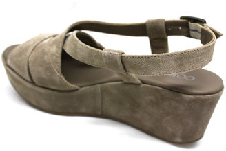 "Cordani Darnell"" Taupe Suede Platform Sandal"