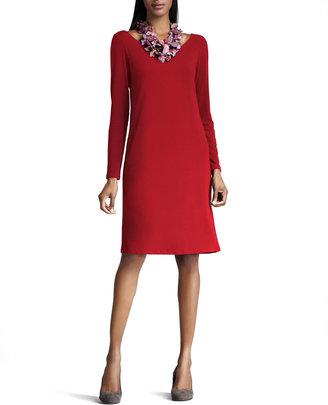 Eileen Fisher Scoop-Neck Jersey Dress