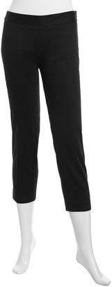 Laundry by Shelli Segal Side-Zip Capri Pants, Black