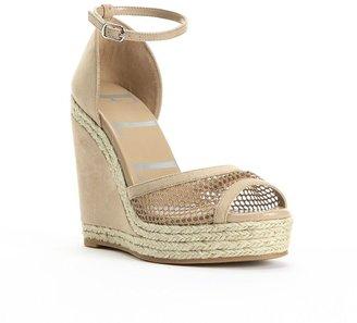 Elle TM peep-toe platform wedge sandals - women
