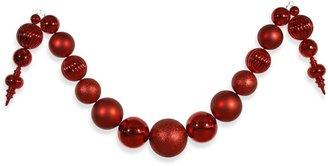 Vickerman 14-Foot Shiny Ball Garland in Red