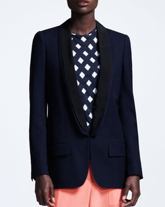 Stella McCartney Triple-Lapel Tuxedo Jacket, Navy