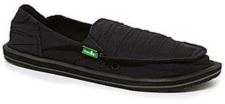 Sanuk Shuffle Women's Casual Ruched Canvas Flats
