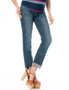 A Pea in the Pod Hudson Bacara Secret Fit Belly® Cuffed Straight Leg Maternity Jeans
