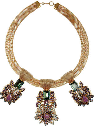 Bijoux Heart Empress gold-plated, opal, aquamarine and amythest necklace