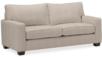 Pottery Barn PB Comfort Square Arm Upholstered Deluxe Sleeper Sofa With Memory Foam Mattress