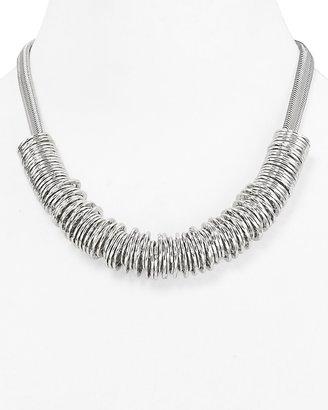"Aqua Rolling Rings Necklace, 18"""