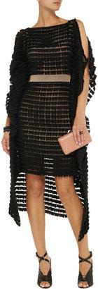 Vionnet Felt-embellished chiffon mini dress
