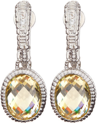 Judith Ripka Canary Oval Drop Earrings