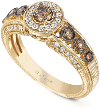 Le Vian White and Chocolate Diamond Engagement Ring (5/8 ct. t.w.) in 14k Gold $3,500 thestylecure.com