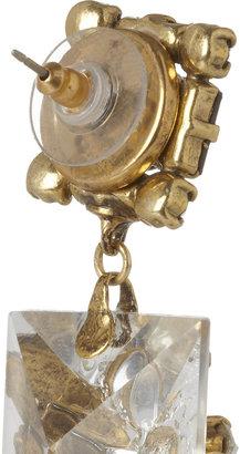 Erickson Beamon Gold-plated Swarovski crystal and pearl earrings