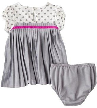 GE Genuine Kids from OshKosh TM Newborn Girls' Pleated Empire Dress - Gray