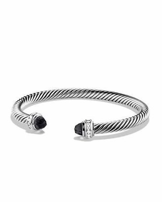 David Yurman Cable Classics Bracelet with Black Onyx and Diamonds $895 thestylecure.com