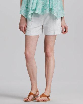 Milly Side-Pocket Silk Shorts