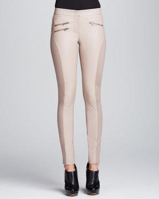 BCBGMAXAZRIA Stephen Faux-Leather Skinny Pants