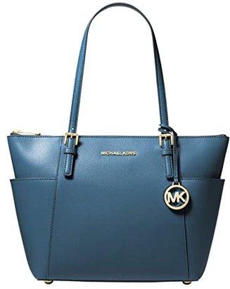 MICHAEL Michael Kors Jet Set Item East West Top-Zip Tote (Acorn 1) Tote Handbags