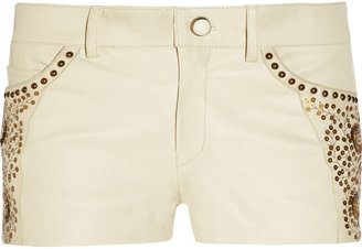 Isabel Marant Devin embellished stretch-leather shorts