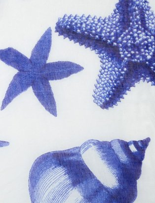 The Limited Printed Seascape Scarf