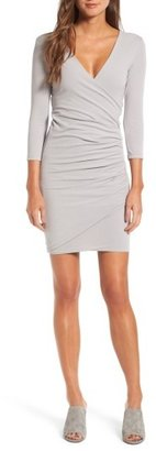 Women's James Perse Tucked Faux Wrap Dress $225 thestylecure.com