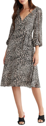Sachin + Babi Animal-Print Blouson-Sleeve Dress