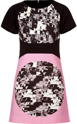 Tibi White/Black-Multi Print Cotton Dress