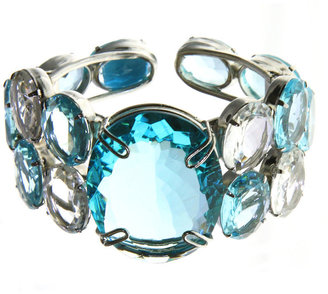 Bounkit Blue and White Topaz Cuff