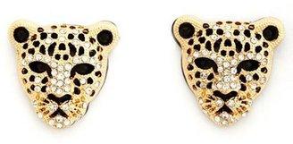 Charlotte Russe Rhinestone Panther Stud Earring